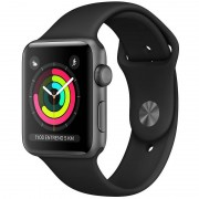 Apple Watch Series 3 GPS 38mm Alumínio Space Grey Com Correia Desportiva Preto