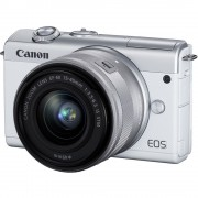 Canon EOS M200 Aparat Foto Mirrorless 24.1MP 4K Kit cu Obiectiv 15-45mm F3.5-6.3 IS Alb
