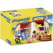 Playmobil 1 2 3 Take Along Barn, Multi Color