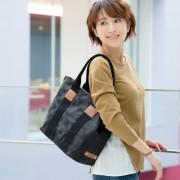 PLY ドットジャカード トートバッグ M【QVC】40代・50代レディースファッション