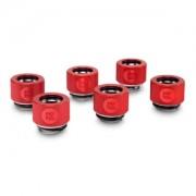 Pachet 6 bucati fitinguri compresie EK Water Blocks EK-HDC 12mm G1/4 Red