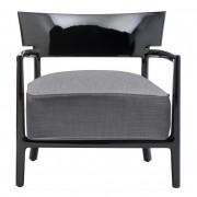 Kartell Cara fauteuil zwart antraciet zitkussen