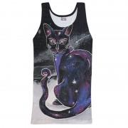 Mr. Gugu & Miss Go Galactic Cat Tank Top T Shirt TT640