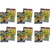 Party Favors Paw Patrol Grab & Go Play Packs- Coloring Book & Crayons- 6 PACK by Cars
