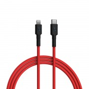 XIAOMI ZMI AL873 MFI Certified USB-C to Lightning Braided Cable PD Fast Charging Data Cable 1m - Red