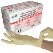 SFM Hospital Products GmbH SFM ® OP Latex STERIL : Chirurgie Handschuhe puderfrei weiß 7.5 (50Paar)