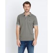Gentlemen Selection Poloshirt mit Kontrastbündchen 23 grün male Größe 58