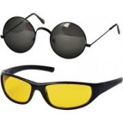 Freny Exim Sports, Round Sunglasses(Black, Yellow)