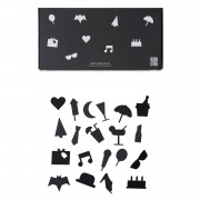 Design Letters Party Icons till Anslagstavla 20-pack, Black