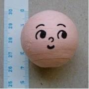 Vatový obličej 3,6cm/ 5ks