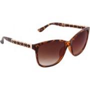 Olvin Retro Square Sunglasses(Brown)