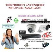 Hikvision High Definition 2 MP 4 Channel 2 CAM CCTV Camera DVR Kit