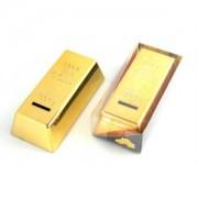Zlatá cihla pokladnička