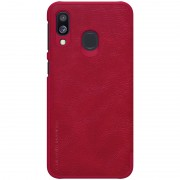 NILLKIN Qin Series Leather Card Holder Phone Cover for Samsung Galaxy A40 - Red