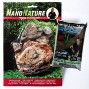 NanoNature set de decoración con rocas Pagoda.- 5 rocas + 3 litros NatureSoil marrón, fino
