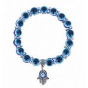 Kék hamsza karkötő