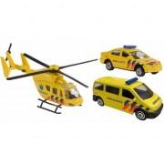 Merkloos Speelgoed 112 ambulance set 3-delig
