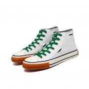 Calzado casual para hombre - Blanco Alto Verde