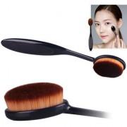 Pro Face Powder Blusher Toothbrush Curve Brush Foundation Makeup Tool Black FREE COVER-100 genuinehigh quality