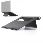 UPERGO AP-1L Laptop Cooling Stand Ergonomic Viewing Angle Holder Support for 10-15inch Laptop - Dark Grey