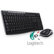 Logitech MK270 Wireless UK QWERTY KeyBoard & Mouse Desktop Combo Set Black