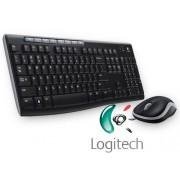 Logitech MK270 Wireless UK QWERTY KeyBoard & Mouse Desktop Combo Set Black