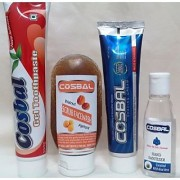 Combo Of Tooth Gel And Scrub Facewash And Shaving Cream And Hand Sanitizer