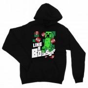 Minecraft Creeper kapucnis pulóver