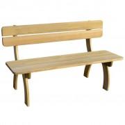 vidaXL Banco de jardim, madeira de pinho impregnada