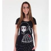 hardcore póló női gyermek - Black Widow - Akumu Ink - 6TW04
