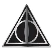Insigna metalica Harry Potter Deathly Hallows , Neagra