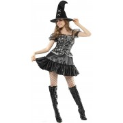 Vegaoo Sexig häxa - utklädnad vuxen Halloween Small (38)