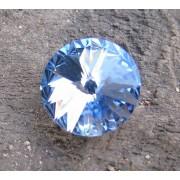 Swarovski crystals Rivoli - Light Sapphire Foiled 14mm, 1 styck