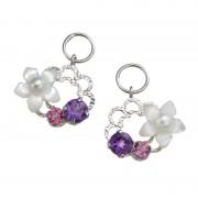 18K 白蝶貝&ナチュラルストーン チャーム【QVC】40代・50代レディースファッション