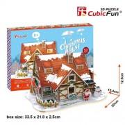 """Cubicfun Cubic Fun 3d Puzzle Model 53pcs Christmas House 20cm/7.9"""""""