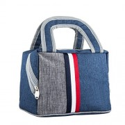 OUO Lunch Bag Lunch Box Tote Bag Reusable Zip Closure Handbag Back Pocket Insulated Bag Cooler Bag Lunch Organizer Holder Container Lunch Bags Lunch Boxes Lunch Tote