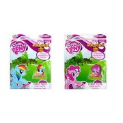 Set of 2 My Little Pony Pop-Outz Color and Play Funny Faces Mask - Pinky Pie and Rainbow Dash