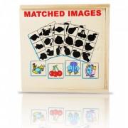 Joc educational din lemn montessori matched images