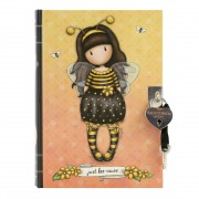 Santoro żółty notatnik w linę Gorjuss Bee-Loved (Just Bee-Cause) A5