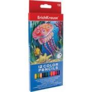 Creioane colorate hexagonale ErichKrause 12 culori