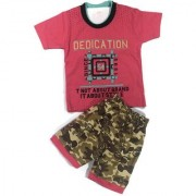 Kids Clothes Boys Pink Military Style