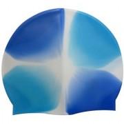 LionsLand Blue Full Head Cover Men and Women Silicon Swimming Cap Free Size Swim05