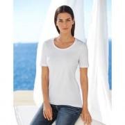 swiss+cotton Kurzarm- oder Langarm-Basic-Shirt swiss+cotton, Kurzarm - 38 - Weiss