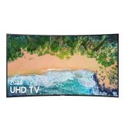 """Samsung Tv 55"""" Samsung Qe55q8cnat Qled Serie 8 Q8cn 2018 Curvo 4k Uhd Smart Wifi 3300 Pqi Usb Hdmi Silver / Inox"""
