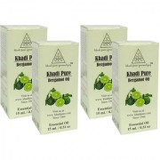 Khadi Pure Herbal Bergamot Essential Oil - 15ml (Set of 4)