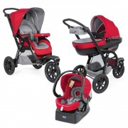 Chicco Trio Activ3 carucior multifunctional 3in1 cu Car Kit, Red Berry