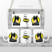 Cană cu Batman personalizată cu nume