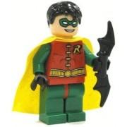 Lego Robin Minifigure with Batarang