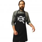Shoppartners Chef kok keukenschort zwart heren en dames - Action products