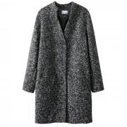 Manteau mi-long mouliné